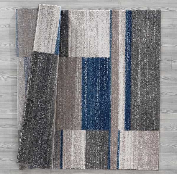 Blue Gray Modern Contemporary New Cheap Area Rugs Large