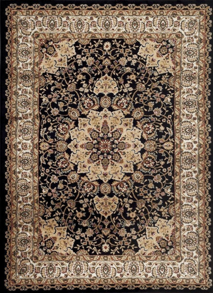 Persian Rugs Black Isfahan Oriental Classic Rugs | Bargain Area Rugs