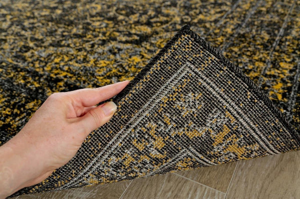 1232 Gold Distressed Oriental Area Rugs