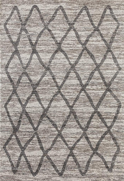 4150 Ivory Distressed Moroccan Trellis Area Rugs