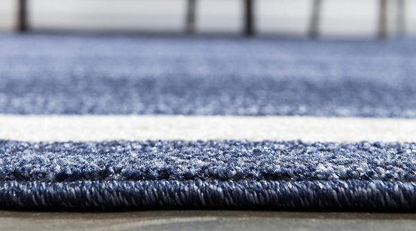 9951 Navy Blue Contemporary Area Rugs