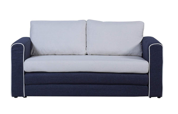 New Century® Two Tone Convertible Sleeper Sofa, Blue, Beige