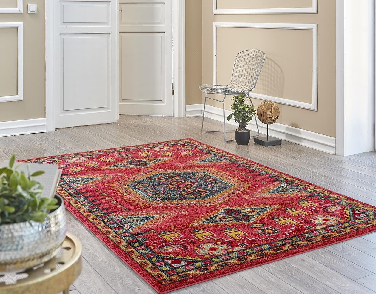 Red South Western Oriental Cheap Area Rugs New 5x8 8x11 Bargain