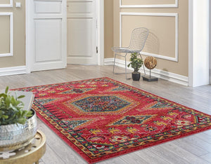 Affordable Contemporary Oriental Clearance Area Rugs Tagged Red