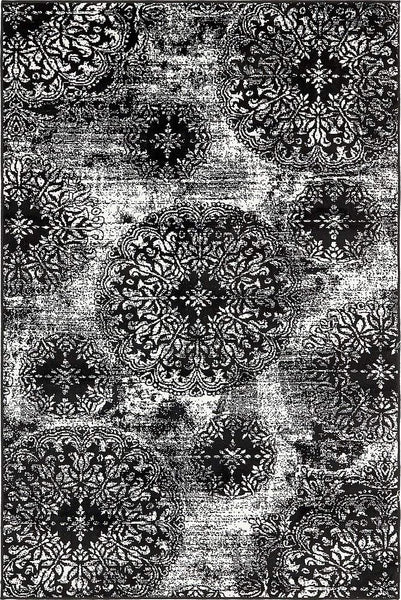 5098 Black Distressed Oriental Area Rugs