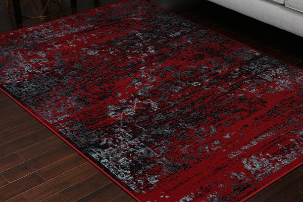 4060 Red Distressed Oriental Area Rugs
