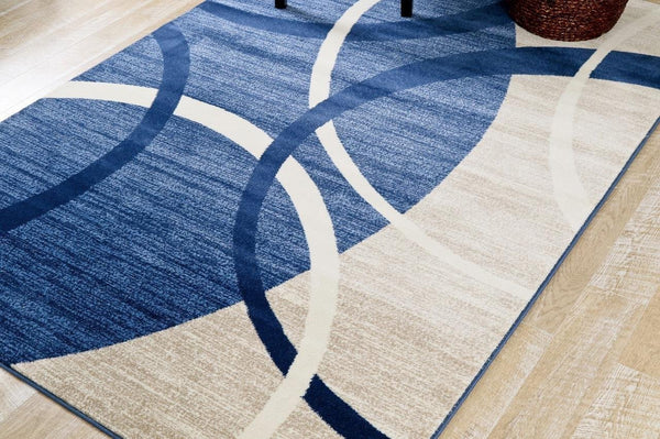 3958 Blue Gray Contemporary Area Rugs