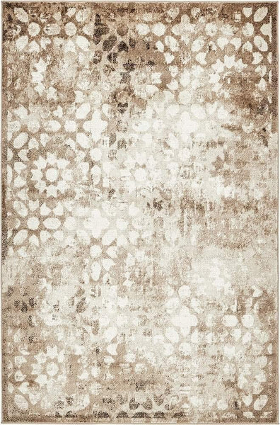 5100 Brown Distressed Oriental Area Rugs