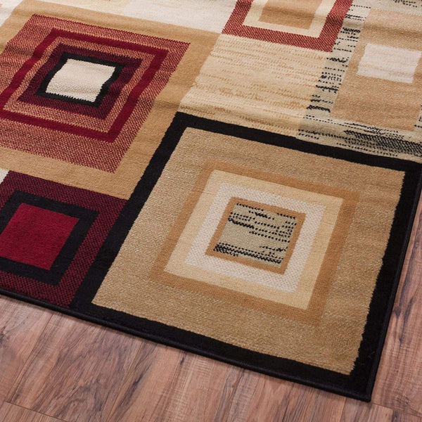5080 Red Square Contemporary Area Rugs