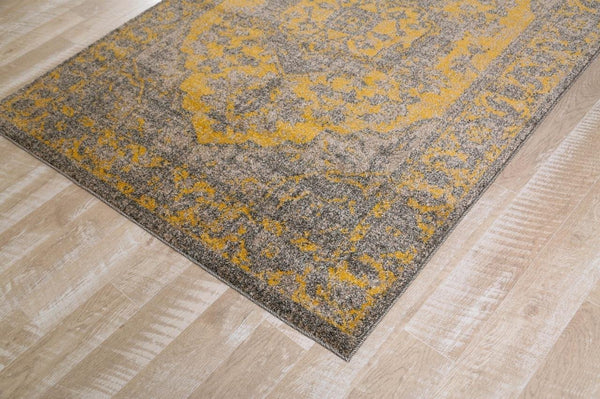 1647 Gold Distressed Oriental Area Rugs