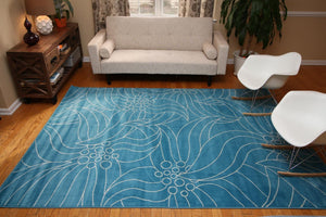 Modern Trendz Blue Gislev Contemporary Rugs