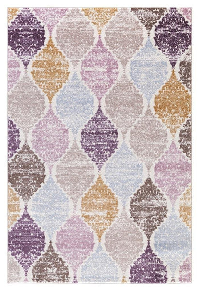 Multi-Color Panal Contemporary Area Rugs