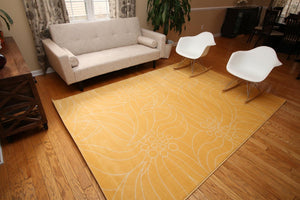 Modern Trendz Yellow Gislev Contemporary Area Rugs