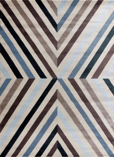 7722 Blue Abstract Contemporary Area Rugs