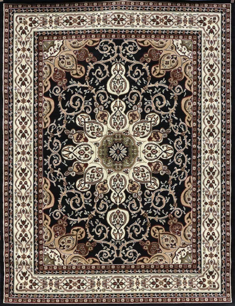 Persian Rugs Black Isfahan Oriental Rugs | Bargain Area Rugs