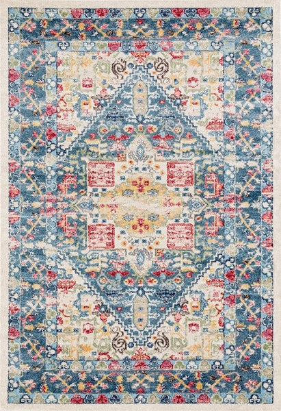 2071 Blue Multi Color Oriental Area Rugs
