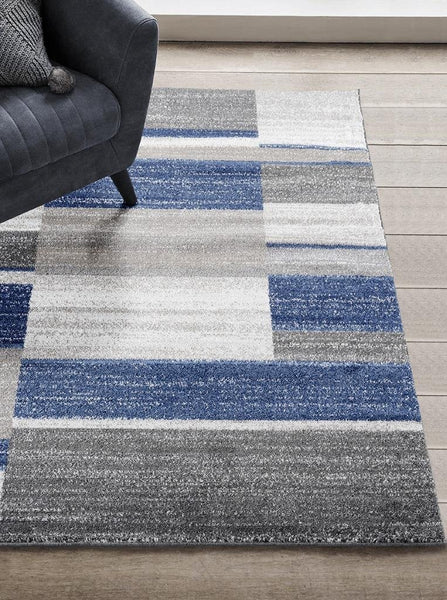 1041 Blue Gray Modern Contemporary Area Rugs