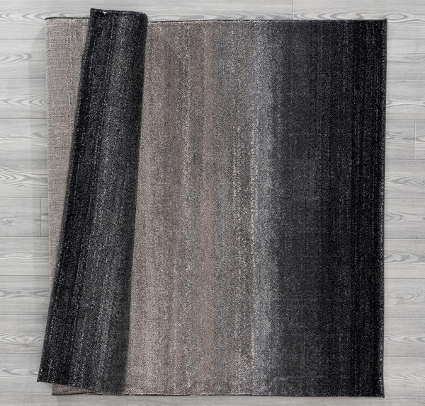 1039 Black Gray Modern Contemporary Area Rugs