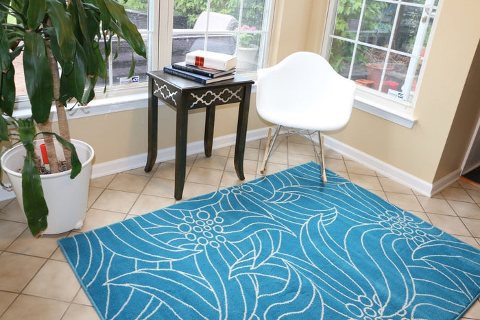 2047 Blue Gislev Contemporary Area Rugs
