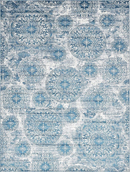 5098 Blue Distressed Oriental Area Rugs