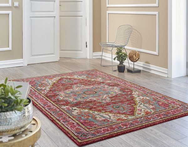 2415 Red Multi-Color Colorful Persian Area Rugs