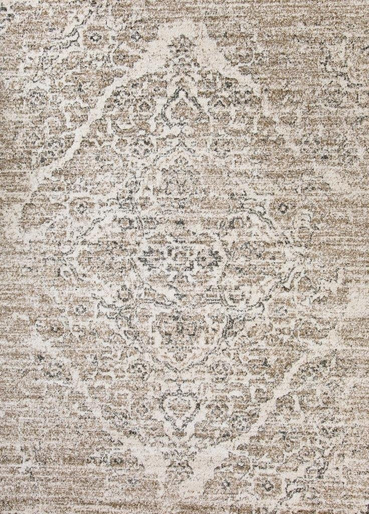 Royalty Beige Distressed Persian Oriental Rug Area Rugs