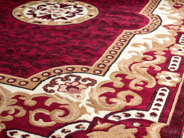 Persian Rugs Red Medallion Isfahan Oriental Rugs | Bargain Area Rugs