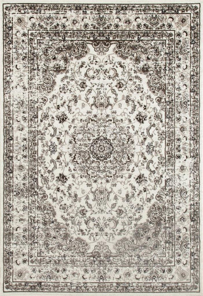 Ivory Oriental Persian Tabriz Isfahan Traditional Area Rugs