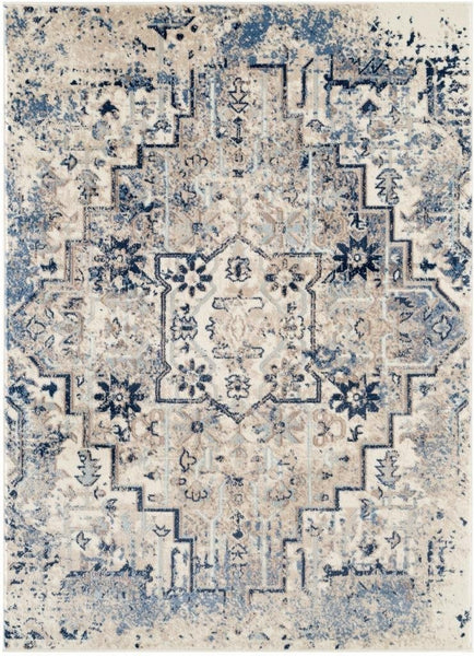 6549 Ivory Distressed Persian Oriental Area Rugs