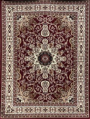 Persian Rugs Red Isfahan Oriental Rugs | Bargain Area Rugs