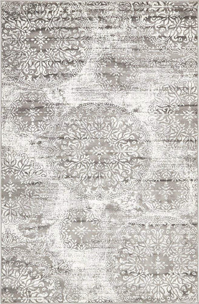 5098 Gray Distressed Oriental Area Rugs