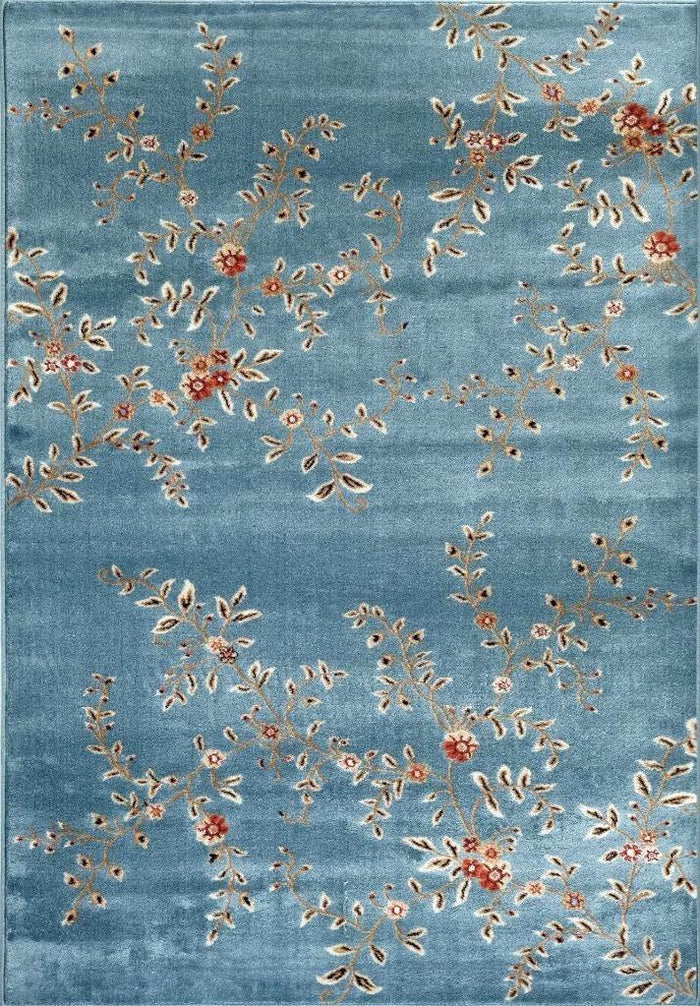 2020 Blue Branches Transitional Area Rugs