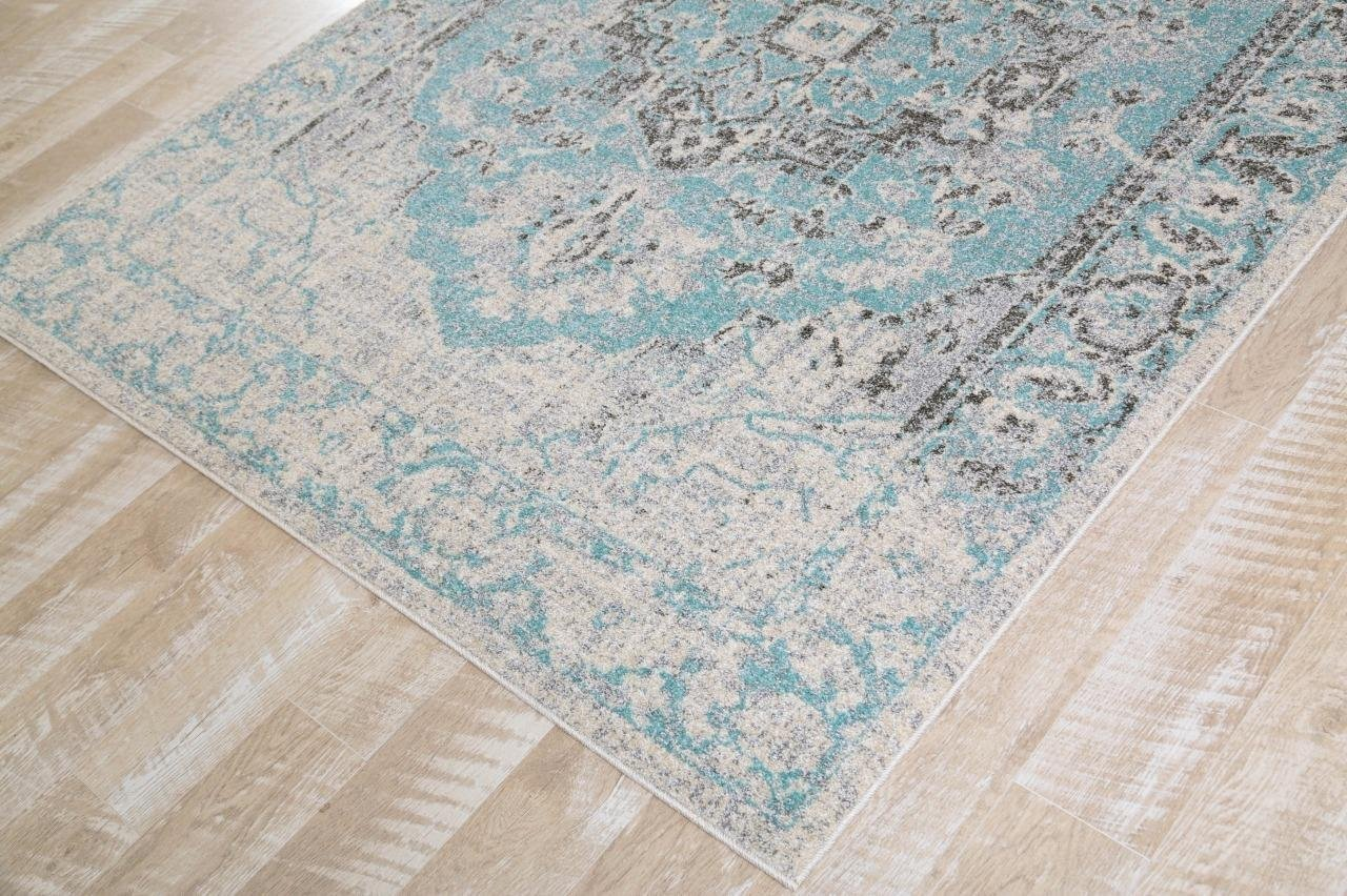 Royalty Blue Distressed Persian Oriental Rug Discount