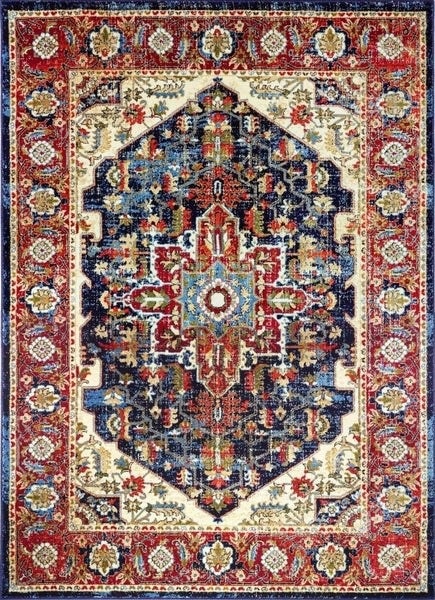2216 Navy Blue Distressed Persian Oriental Area Rugs