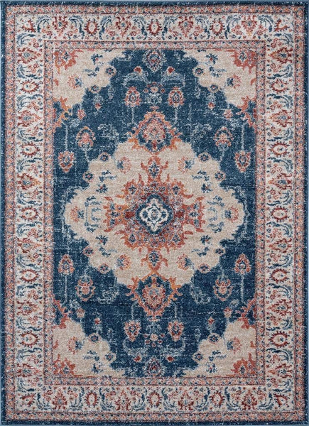 2217 Blue Distressed Oriental Area Rugs