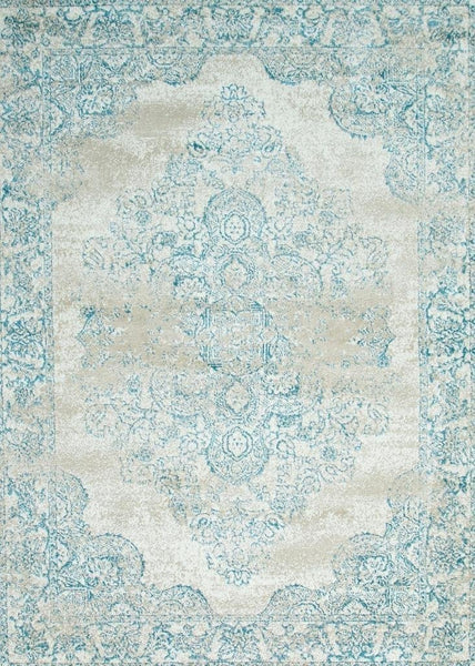 5259 Ivory Medallion Distressed Oriental Area Rugs