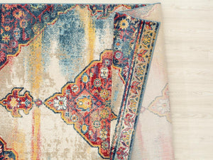 2064 Multi-Color Medallion Colorful Persian Area Rugs
