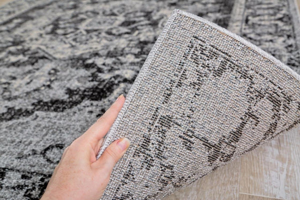 1647 Gray Distressed Oriental Area Rugs