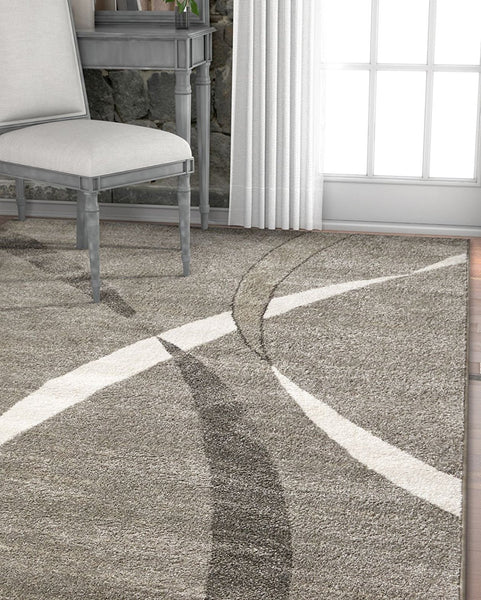 2965 Gray Modern Abstract Contemporary Area Rugs
