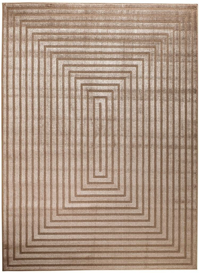 6050 Beige Polyester Area Rugs