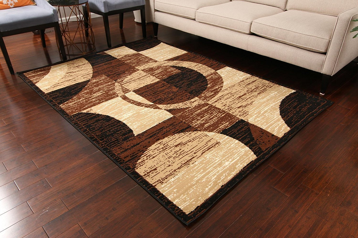 Generic brown contemporary rug under 100 area rugs for Cheap contemporary area rugs