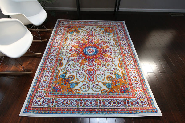 4023 White - Bargain Area Rugs  - 1