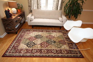 1019 Red - Bargain Area Rugs  - 4