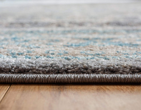 5118 Gray Distressed Vintage Area Rugs