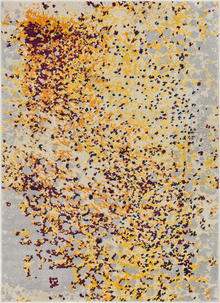 2949 Yellow Blue Modern Contemporary Area Rugs