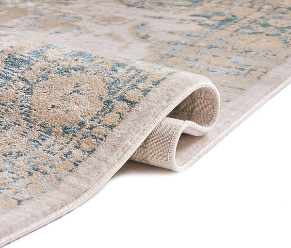 Teal Blue Tribal Distressed Persian Area Rugs