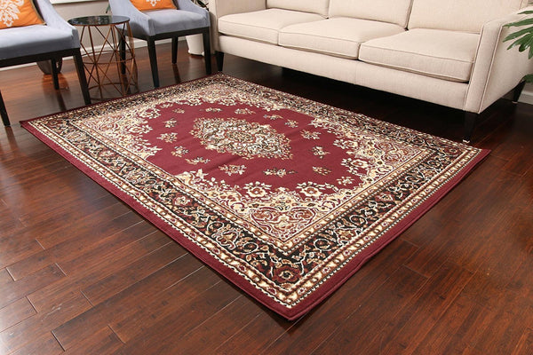 Burgundy Oriental Cheap Area Rugs 5x8 8x11 Under 100