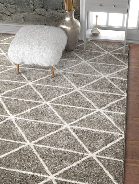 2915 Gray Ivory Soft & Thick Contemporary Area Rugs