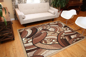Abstract Beige Affordable Contemporary Area Rugs