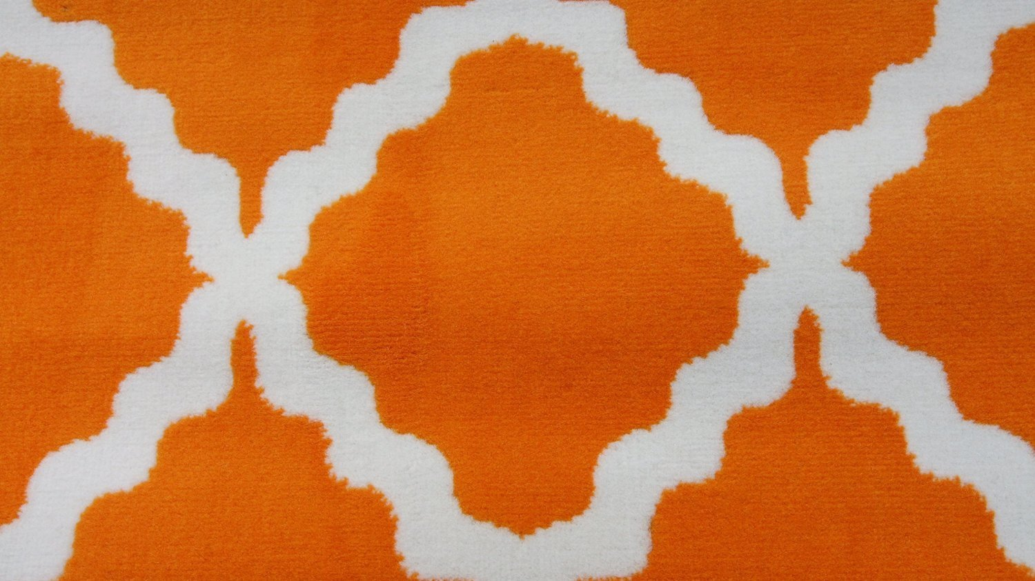 Generic Orange Quatrefoil Moroccan Large Area Rugs